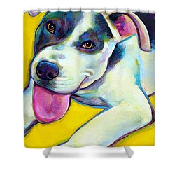 Pit Bull Puppy Shower Curtain by Robert Phelps