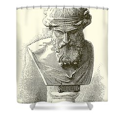 Plato  Shower Curtain by English School