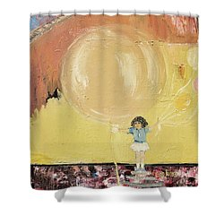 Shower Curtain featuring the painting Playground by Evelina Popilian