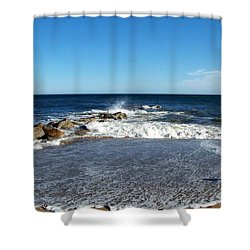 Shower Curtain featuring the photograph Plum Island Landscape by Eunice Miller