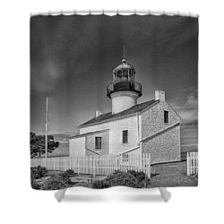 Point Loma Lighthouse Shower Curtain by Hugh Smith