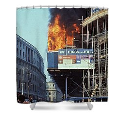 Poll Tax Riots London Shower Curtain