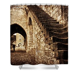 Shower Curtain featuring the photograph Pont Valentre / Cahors by Barry O Carroll