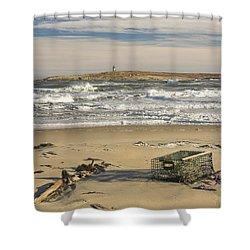 Popham Beach On The Maine Coast Shower Curtain