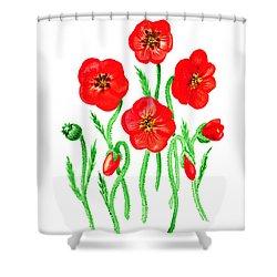 Poppies Shower Curtain by Irina Sztukowski