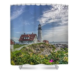 Shower Curtain featuring the photograph Portland Headlight by Jane Luxton