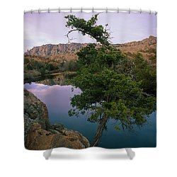 Post Oak Lake And Elk Mountain Shower Curtain