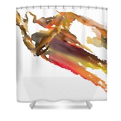Pray Shower Curtain by Len YewHeng