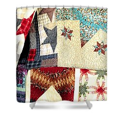 Shower Curtain featuring the photograph Quilts For Sale by Janette Boyd