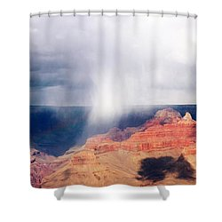 Raining In The Canyon Shower Curtain by Kathleen Struckle