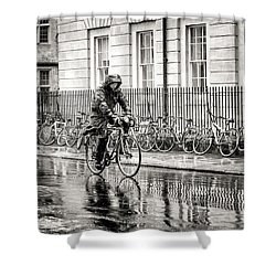 Rainy Day Ride Shower Curtain