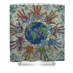 Reach Out  Shower Curtain