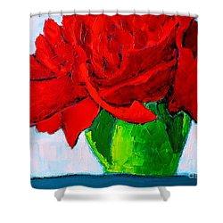 Red Carnation Shower Curtain by Ana Maria Edulescu