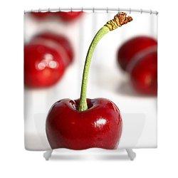 Red Cherries Shower Curtain by Craig B