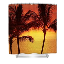 Red Sunset. Shower Curtain