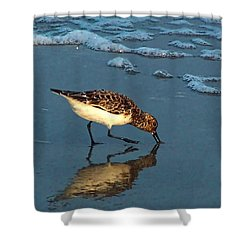 Reflection At Sunset Shower Curtain by Sandi OReilly