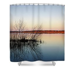 Reflections On Lake Jackson Tallahassee Shower Curtain by Paul  Wilford