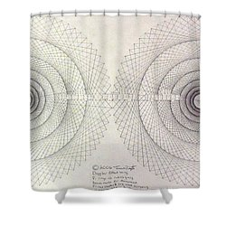 Relativity Shower Curtain by Jason Padgett