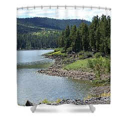 River Reservoir Shower Curtain