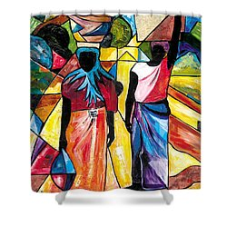 Road To The Market Shower Curtain by Everett Spruill