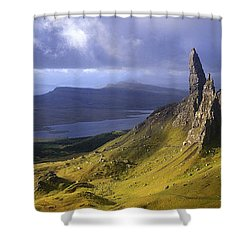 Rock Formations On Hill, Old Man Shower Curtain by Panoramic Images