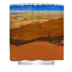 Rock Orange Shower Curtain