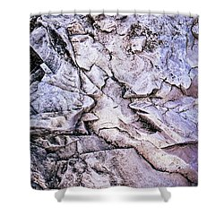 Rocks At Georgian Bay Shower Curtain by Elena Elisseeva