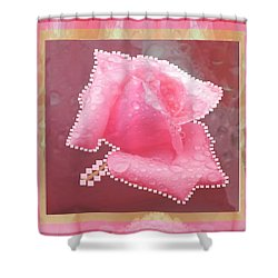 Rose Flower Petal Art Texture N Color Tones Navinjoshi  Rights Managed Images Graphic Design Is A St Shower Curtain