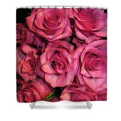 Rosebouquet In Pink Shower Curtain