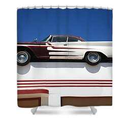 Route 66 - Desoto's Salon Shower Curtain by Frank Romeo