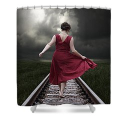 Running Shower Curtain by Joana Kruse