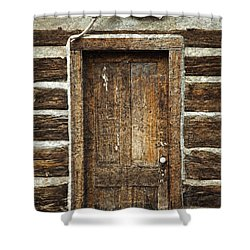 Rustic Cabin Door Shower Curtain by John Stephens