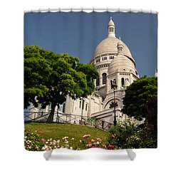 Sacre Coeur Shower Curtain by Jeremy Voisey