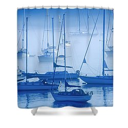 Sailboats In The Fog - Maine Shower Curtain