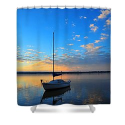 Shower Curtain featuring the photograph Sailing 2 by Terri Gostola