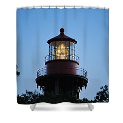 Shower Curtain featuring the photograph Saint Augustine Lighthouse -1 by Bob Sample