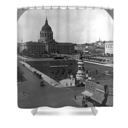 Shower Curtain featuring the photograph San Francisco City Hall by Granger