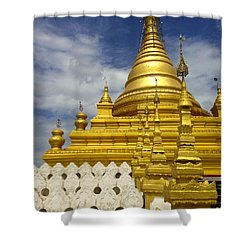 Shower Curtain featuring the photograph Sandamuni Pagoda Mandalay Burma by Ralph A  Ledergerber-Photography