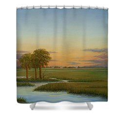 Santee Sunset Shower Curtain by Audrey McLeod