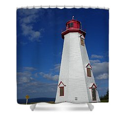 Seacow Head Light Shower Curtain