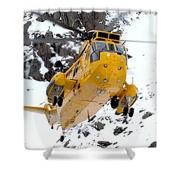 Seaking Helicopter Shower Curtain by Paul Fearn