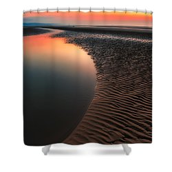 Seascape Sunset Shower Curtain