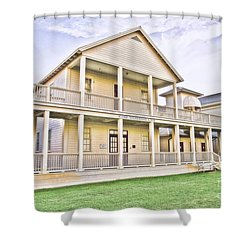 Seaside Neighborhood School Shower Curtain by Scott Pellegrin