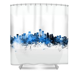 Seattle Washington Skyline Shower Curtain