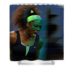 Serena Williams Shower Curtain by Marvin Blaine
