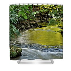Serene Stream Shower Curtain by Frozen in Time Fine Art Photography