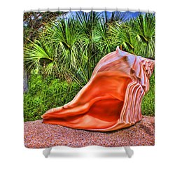 Shell Attack Shower Curtain