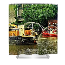 Ship Shape Shower Curtain by Frozen in Time Fine Art Photography