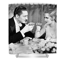 Silent Film Still: Drinking Shower Curtain by Granger