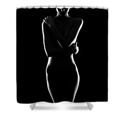 Silver Lining Shower Curtain by Marlo Horne